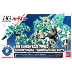 HG 1/144 THE GUNDAM BASE LIMITED UNICORN GUNDAM (LUMINOUS CRYSTAL BODY)