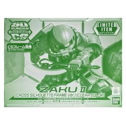 SD Gundam Cross Silhouette ZakuII (Cross Silhouette Frame Ver.)[Clear Color]