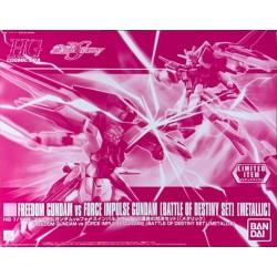 HG 1/144 Freedom Gundam Vs Force Impulse Gundam (Battle Of Destiny Set) [Metallic]