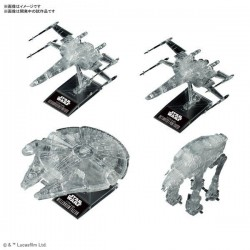1/144 & 1/350 & 1/540 『STAR WARS: THE LAST JEDI』 CLEAR VEHICLE SET
