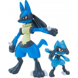 POKEMON MODEL KIT RIOLU & LUCARIO