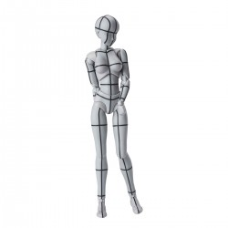 S.H.Figuarts - BODY CHAN -WIREFRAME- (Gray Color Ver.)