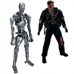 Twelfth Scale Supreme Action Figure (Terminator 2:Judgement Day Super Deluxe Set – T-800 Battle Damaged & Endoskeleton Heavy Weathering)