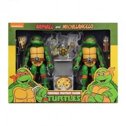 TMNT - Fig Cartoon Series 2 Michelangelo and Raphael 2 pack